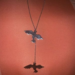 In American eagle silver necklace